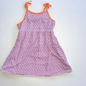 Old Navy Purple Sundress orange trim size 4T